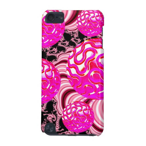 Cotton Candy, Abstract Fractal Pink Rose White iPod Touch 5G Covers
