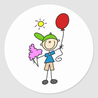 Cotton Candy And Balloons At The Fair Sticker