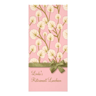 Cotton Candy Bouquet Retirement Party Program Full Color Rack Card