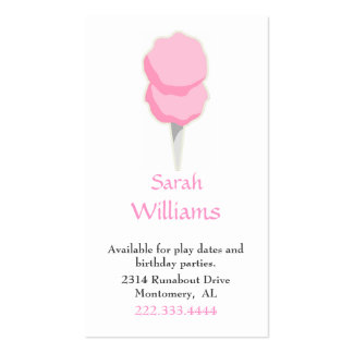 Cotton Candy Children Calling Card Business Card