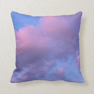 Cotton Candy Clouds at Sunset Throw Pillow