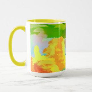 cotton candy clouds mug