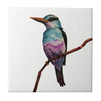 Cotton Candy Color Bird Painting Tile