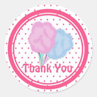 Cotton Candy Dots Classic Round Sticker