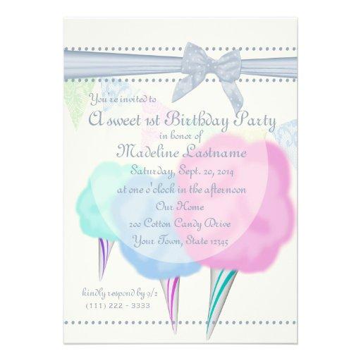 Cotton Candy Fair Birthday Cards