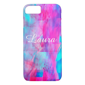 Cotton Candy Ghostly Flames  Text iPhone 8/7 Case