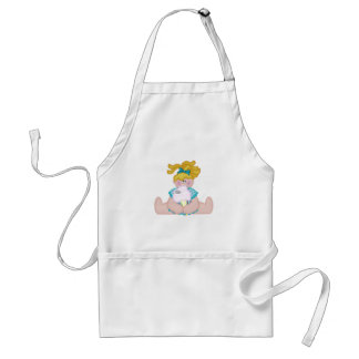 Cotton Candy Girl and Mouse Standard Apron