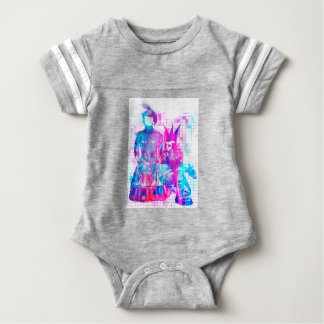 Cotton Candy Goth Girl and Punk Dude Baby Bodysuit