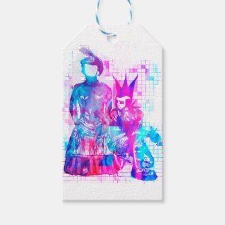 Cotton Candy Goth Girl and Punk Dude Gift Tags