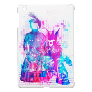Cotton Candy Goth Girl and Punk Dude iPad Mini Covers