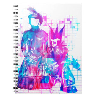 Cotton Candy Goth Girl and Punk Dude Notebook