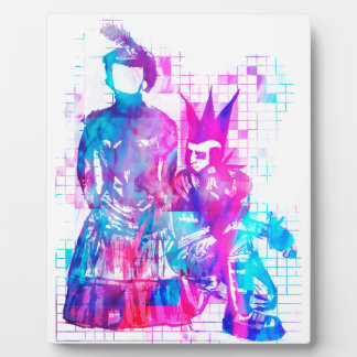 Cotton Candy Goth Girl and Punk Dude Plaque