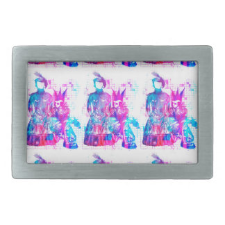 Cotton Candy Goth Girl and Punk Dude Rectangular Belt Buckles