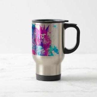 Cotton Candy Goth Girl and Punk Dude Travel Mug