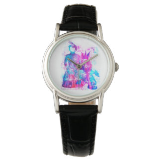 Cotton Candy Goth Girl and Punk Dude Wrist Watch