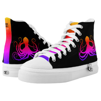 Cotton Candy Octopus - High Top Sneakers