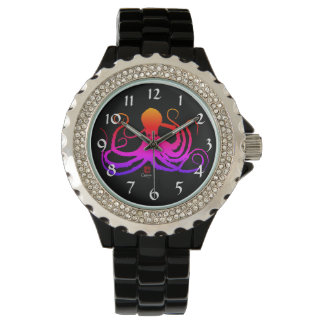 Cotton Candy Octopus - Women's Rhinestone Watch