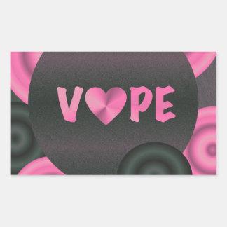 Cotton Candy Pink 3D Vape Heart Sticker