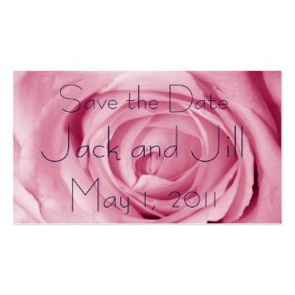 Cotton Candy Pink Save the Date Business Card Template