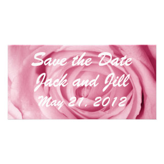 Cotton Candy Pink Save the Date Photo Card