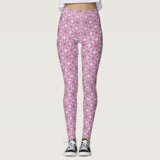 Cotton Candy Pink Swirls Leggings