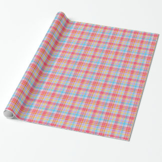 Cotton Candy Plaid Designer Wrapping Paper