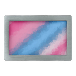 Cotton Candy Rainbow Colors Belt Buckles