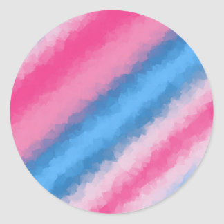 Cotton Candy Rainbow Colors Classic Round Sticker