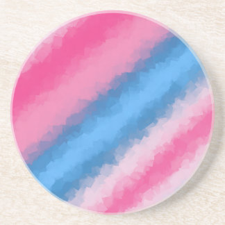 Cotton Candy Rainbow Colors Coaster