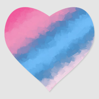 Cotton Candy Rainbow Colors Heart Sticker