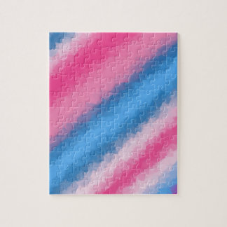Cotton Candy Rainbow Colors Jigsaw Puzzle