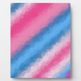 Cotton Candy Rainbow Colors Plaque