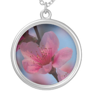 cotton candy silver plated necklace