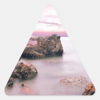 Cotton Candy Sky Triangle Sticker