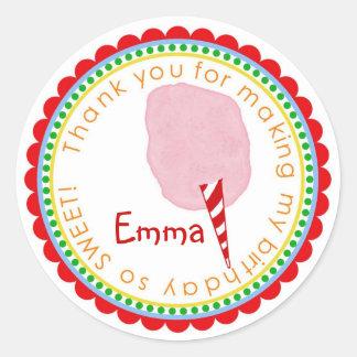 Cotton Candy Stickers- Pink Classic Round Sticker