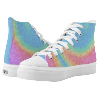 Cotton Candy Swirl High Tops