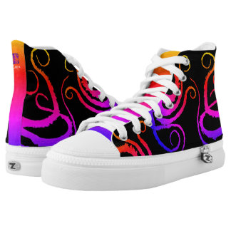 Cotton Candy Tentacles - High Top Sneakers