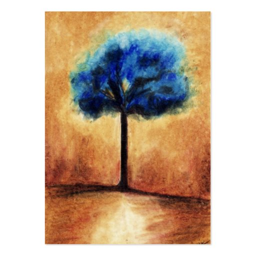 Cotton Candy Tree (Blue) ACEO Art Trading Cards Business Cards