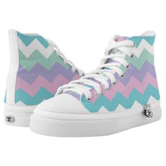 Cotton Candy Zigzag Design Shoes