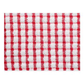 Cotton cloth texture postcard