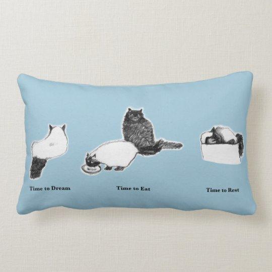 Cotton Customizable Lumbar Pillow—Cat Times Lumbar Pillow