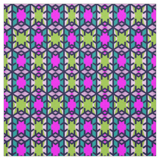 Cotton Fabr- Crafts-Turquoise/Pink/Green/Purple Fabric
