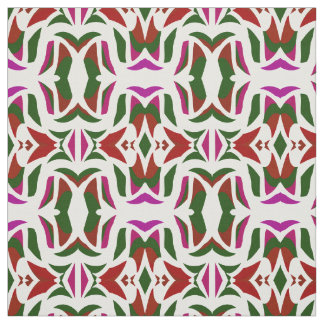 Cotton Fabric-Crafts-Green,White,Red, Purple Fabric