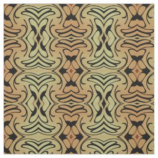 Cotton Fabric-Crafts-Home-Beige/Black/Peach Fabric