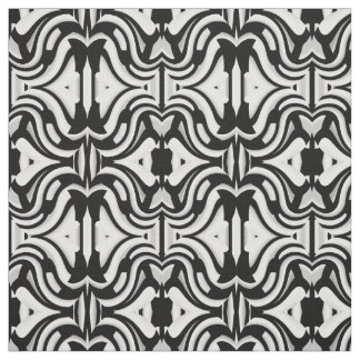 Cotton Fabric--Crafts-Home-Black/White/Gray Fabric