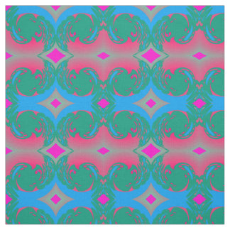 Cotton Fabric-Crafts-Home-Pink/Green/Blue Fabric