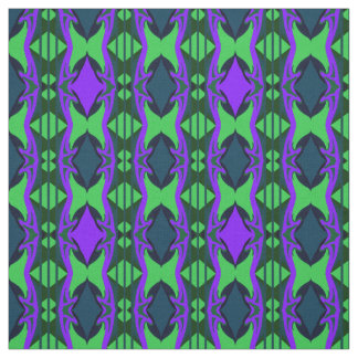 Cotton Fabric -Crafts-Home-Purple/Green/Blue