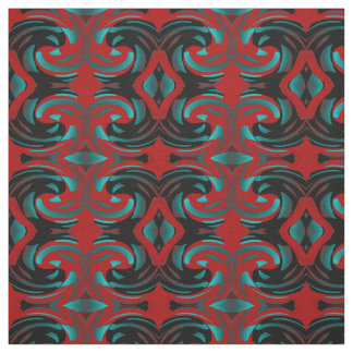 Cotton Fabric-Crafts-Home-Red/Blue/Black Fabric