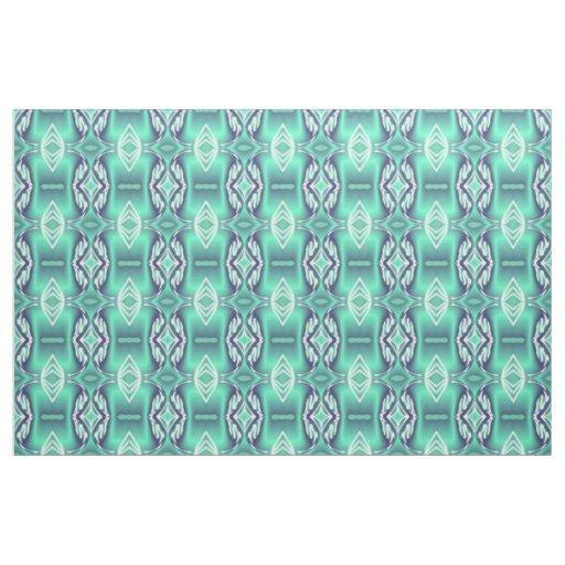 Cotton Fabric -Crafts-Home -White/Blue/Aqua