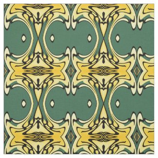 Cotton Fabric-Crafts-Home-Yellow/Green/Black Fabric